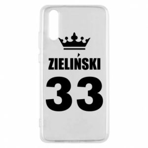 Phone case for Huawei P20 name, figure and crown - PrintSalon