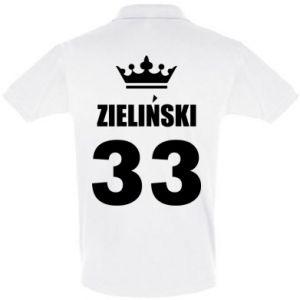 Koszulka Polo Imię, cyfra i korona - PrintSalon