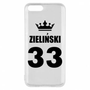 Phone case for Xiaomi Mi6 name, figure and crown - PrintSalon