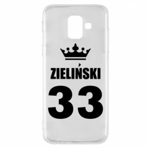 Phone case for Samsung A6 2018 name, figure and crown - PrintSalon