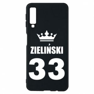 Phone case for Samsung A7 2018 name, figure and crown - PrintSalon