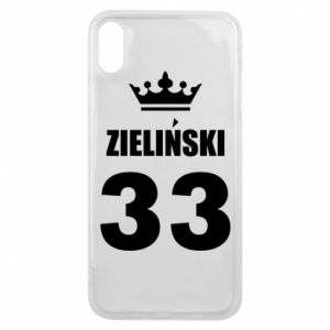 Phone case for iPhone Xs Max name, figure and crown