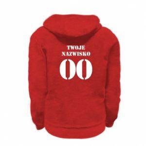 Kid's zipped hoodie % print% Name and number