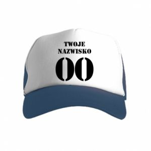 Kid's Trucker Hat Name and number