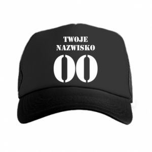 Trucker hat Name and number