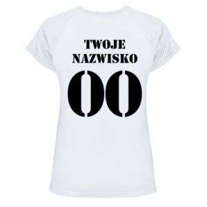 Women's sports t-shirt Name and number