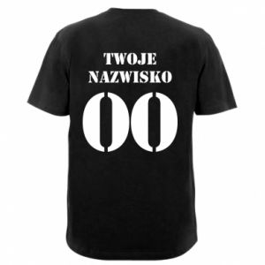 Men's V-neck t-shirt Name and number - PrintSalon