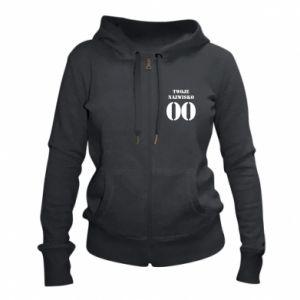 Women's zip up hoodies Name and number - PrintSalon