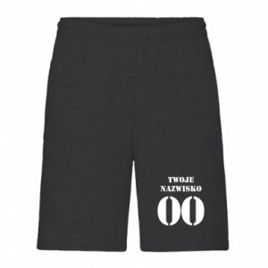 Men's shorts Name and number