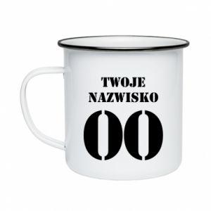 Enameled mug Name and number