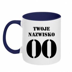 Two-toned mug Name and number - PrintSalon