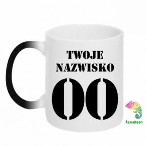 Chameleon mugs Name and number - PrintSalon