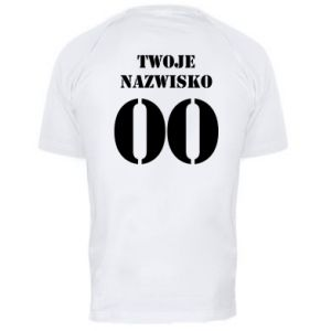 Men's sports t-shirt Name and number