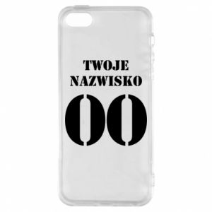 Phone case for iPhone 5/5S/SE Name and number
