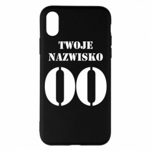 Phone case for iPhone X/Xs Name and number