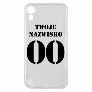 Phone case for iPhone XR Name and number