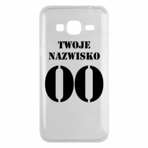 Phone case for Samsung J3 2016 Name and number