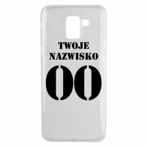 Phone case for Samsung J6 Name and number