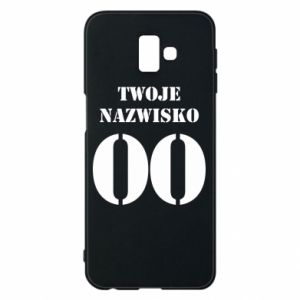 Phone case for Samsung J6 Plus 2018 Name and number