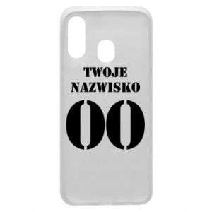 Phone case for Samsung A40 Name and number