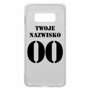 Phone case for Samsung S10e Name and number