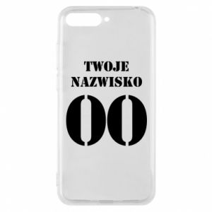 Phone case for Huawei Y6 2018 Name and number