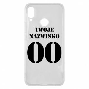 Phone case for Huawei P Smart Plus Name and number