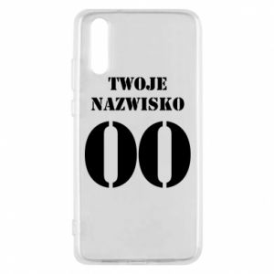 Phone case for Huawei P20 Name and number