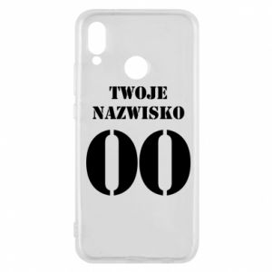 Phone case for Huawei P20 Lite Name and number
