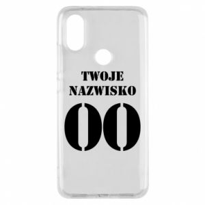 Phone case for Xiaomi Mi A2 Name and number