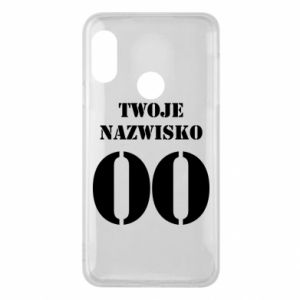 Phone case for Mi A2 Lite Name and number