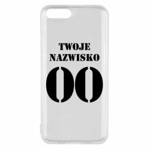 Phone case for Xiaomi Mi6 Name and number