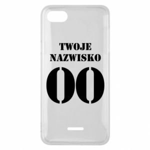 Phone case for Xiaomi Redmi 6A Name and number