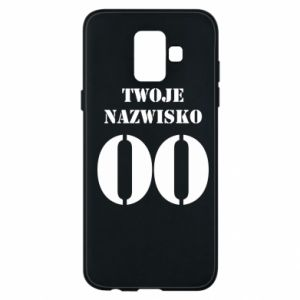 Phone case for Samsung A6 2018 Name and number