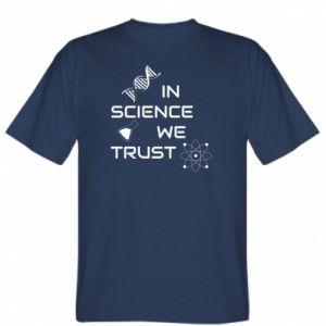 Koszulka męska In science we trust
