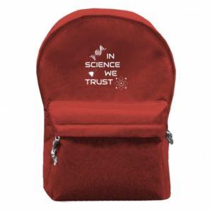 Plecak z przednią kieszenią In science we trust