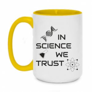 Two-toned mug 450ml In science we trust