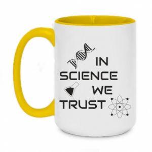 Kubek dwukolorowy 450ml In science we trust
