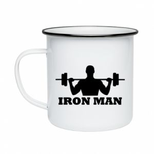 Enameled mug Iron man - PrintSalon