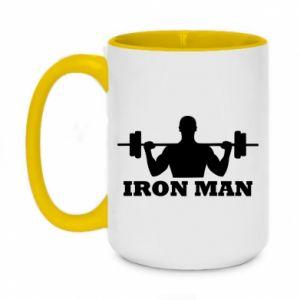 Two-toned mug 450ml Iron man