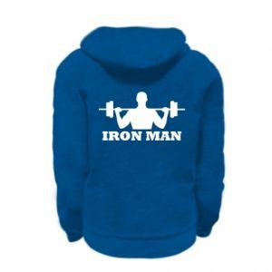 Kid's zipped hoodie % print% Iron man