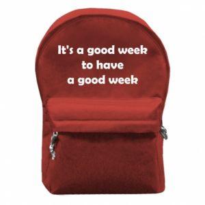 Plecak z przednią kieszenią It's a good week