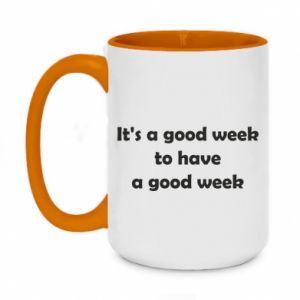 Kubek dwukolorowy 450ml It's a good week