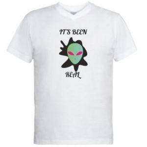 Męska koszulka V-neck It's been real