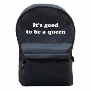 Plecak z przednią kieszenią It's good to be a queen