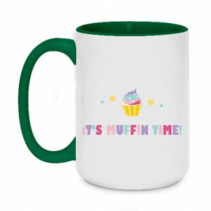 Two-toned mug 450ml It's muffin time
