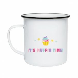 Enameled mug It's muffin time