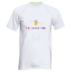Men's sports t-shirt It's muffin time
