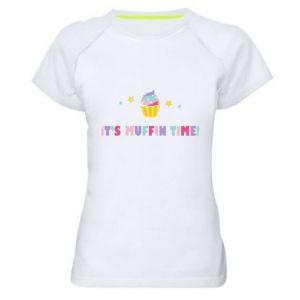 Koszulka sportowa damska It's muffin time