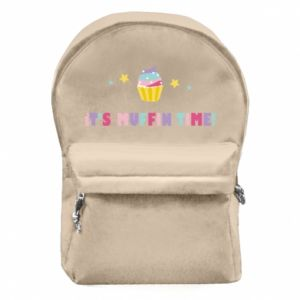 Backpack with front pocket It's muffin time